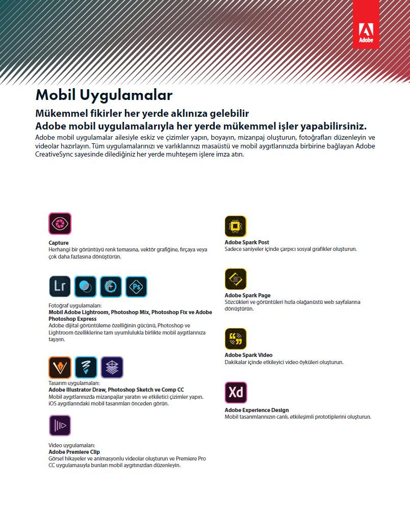 Adobe Creative Cloud dijital lisans