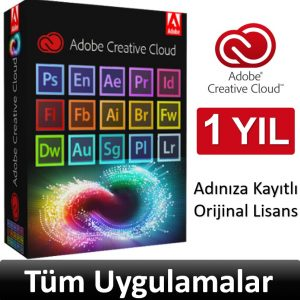 Adobe creative cloud 1 yıllık abonelik